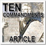 Ten Commandments Article