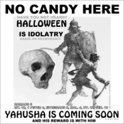 No Candy Here yard sign