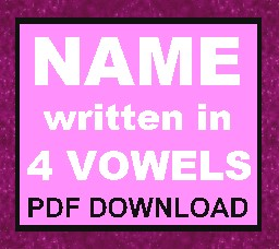 Name Written In Four Vowels (pdf download article)