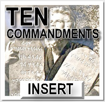 Ten Commandments Insert