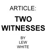 Two Witnesses 10 copies
