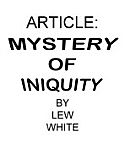 MYSTERY OF INIQUITY 10 copies