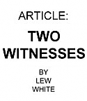 FREE Download of Two Witnesses Article