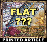 Flat Earth Hoax Printed Article
