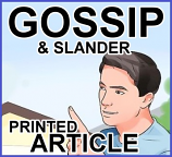 Gossip (printed article – 10 copies)